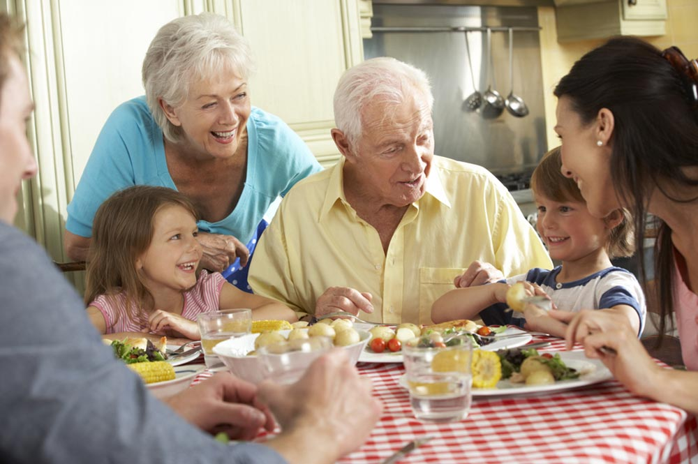 Living with Family - family meal