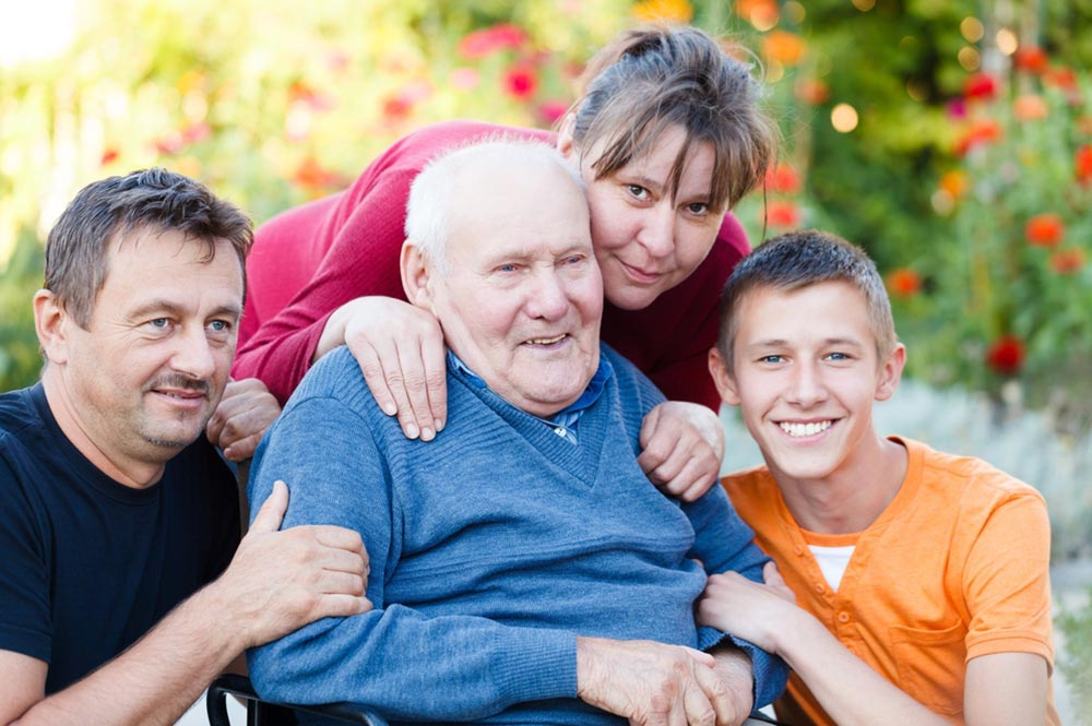Living with Family - visiting grandfather